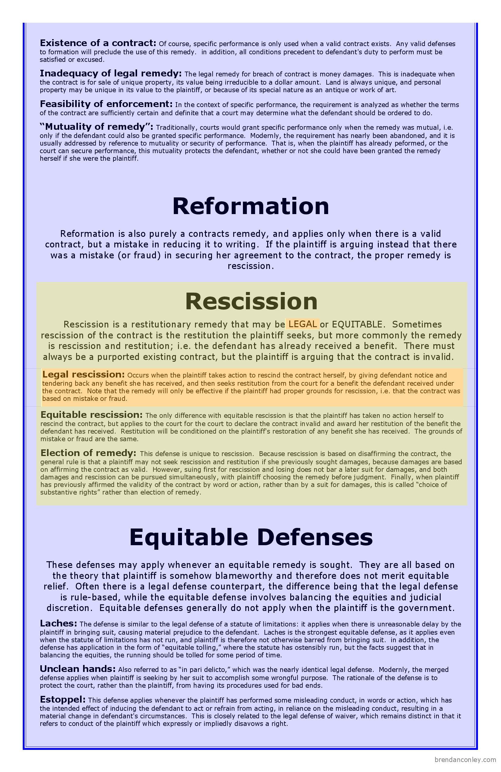 Remedies big picture bar exam study materials equitable remedies page 2 geenschuldenfo Images