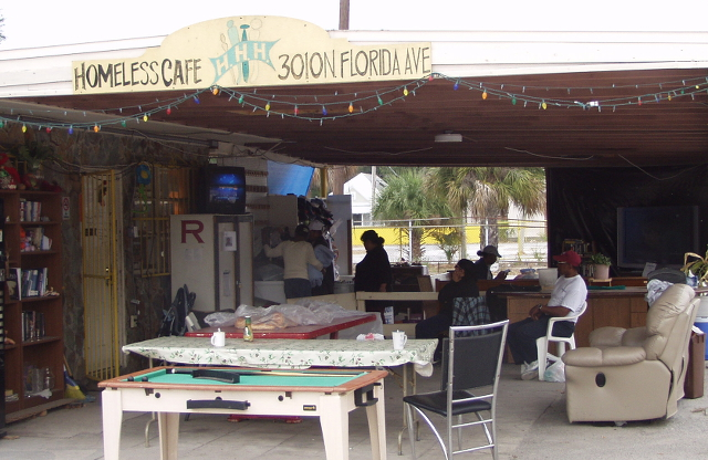 Homeless Cafe in Tampa