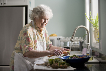 Elderly Woman Cooking CC0